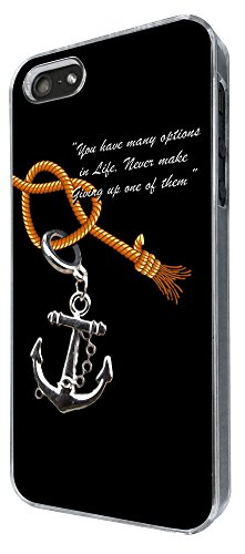 907 - Anchor Quote Design iphone 4 4S Coque Fashion Trend Case Coque Protection Cover plastique et métal