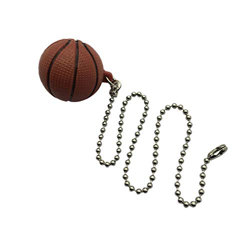 Ceiling Fan Chain Extenders with a Basketball Pendant, 12 inch Pull Chain Decoration for Lighting Celing Fan, Nickel