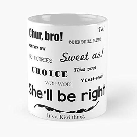 Nueva Zelandes Slang Zealand Nz Kiwi Kiwis Mejor 11oz Taza de café de cerámica Personalizar