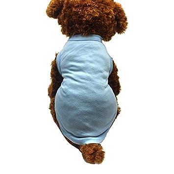 GYFCWH Ropa para Perros Camisa Algodón Ropa para Perros para ...
