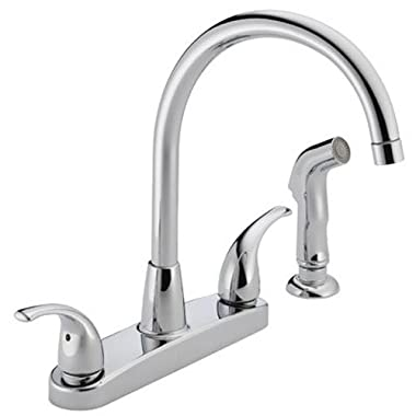 Peerless P299578LF Choice Two Handle Kitchen Faucet, Chrome