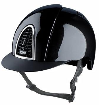 Kep brillante w/negro rejilla casco
