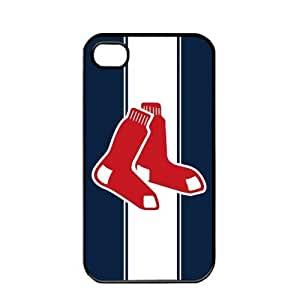 MLB Major League Baseball Boston Red Sox Apple iPhone 4 / 4s TPU Soft Black or White case (Black)