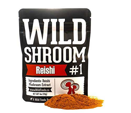Reishi Mushroom Extract 10:1 Superfood Powder by Wild Foods | Fruiting Bodies Only | Adaptogenic Herb for Immune System, Sleep Aid, and Nootropic Mental Performance (4 Ounce)
