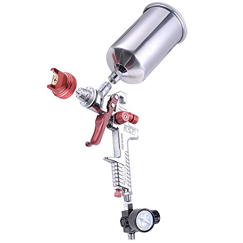 Professional 1.3mm Tip Hvlp Stainless Spray Gun Auto Paint Car Basecoat Primer Clear Gauge Gravity Feed (Paint Guns Automotive compare prices)