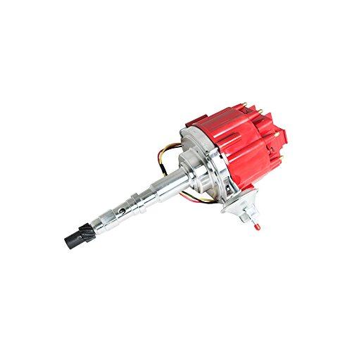 Top Street Performance JM6512R HEI Distributor with Red OEM Cap (50K Volt Coil)