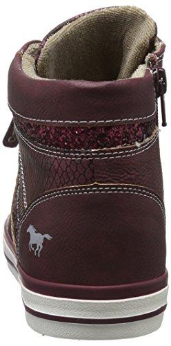 Mustang Sneaker Rosso Donna Bordeaux 55 Alto Collo a 508 1146 55 0Stqxw8aSr