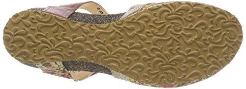 Think! Kessy_282376, Sandales Bout Fermé Femme, Noir Multicolore (Sand/Kombi 44)