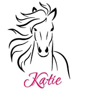 2016 NEW Horse Wall decal-Horse Sticker-Vinyl Wall Decal Art Personalized Name Children, Girls Room Wall Sticker Home Decor