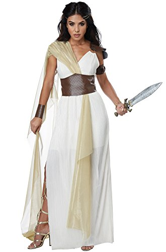 California Costumes Women's Spartan Warrior Queen Adult Woman Costume, Cream/Gold, Large