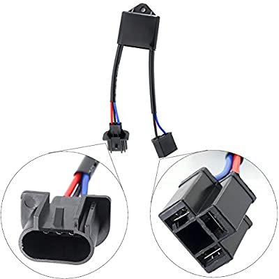 H4 to H13 Adapter Anti Flicker Harness Jeep JK LED Headlights Decoder Auto Computer Warning Canceller Capacitor Canbus Error Code Eliminator for any Jeep Wrangler 7inch Round LED Headlight: Automotive