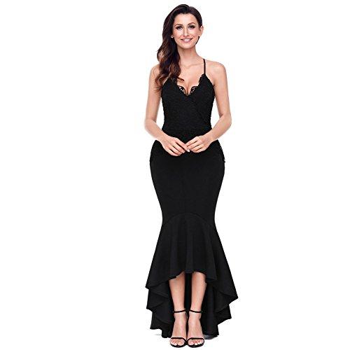 Dew Prom vestido volver Black elegante vestido mujer fiesta MEI Vintage de amp;S de tarde n1pqZ4gw