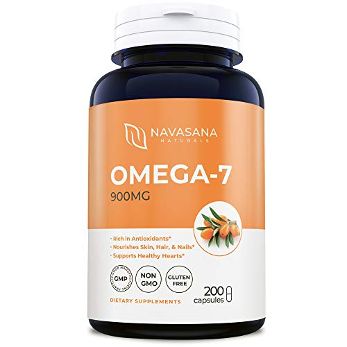 Max Potency Omega 7 Fatty Acids - 900MG 100 Day Supply - Pure Sea Buckthorn Oil Extract - Weight Loss, NO Fishy Taste - Non GMO Natural Omega-7 Palmitoleic Acid - 100% Risk Free Money Back Guarantee (Usa Sevens)