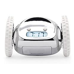 Nanda Robot Alarm Clock Hip, Innovative and Charming - Chrome