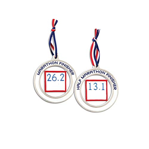 Personalized Half Marathon Medal Christmas Tree Ornament for sale  Delivered anywhere in Canada
