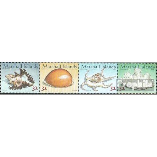 marshall-îles 948-951 bande de quatre (complète.Edition.) 1998 mollusques bivalves et gastéropodes marins (Timbres pour les collectionneurs)