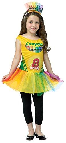 Crayon Box Dress Teen Costumes (UHC Girl's Crayon Box Tutu Crayola Fancy Dress Child Teen Halloween Costume, Child S (4-6))