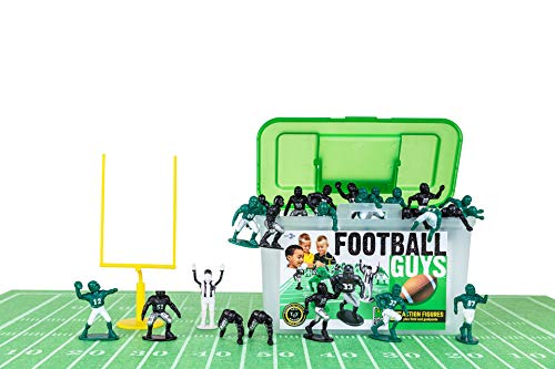 Kaskey Kids Football Guys - Green/Black Inspires Kids Imaginations with Endless Hours of Creative, Open-Ended Play - Includes 2 Teams & Accessories - 28 Pieces in Every
