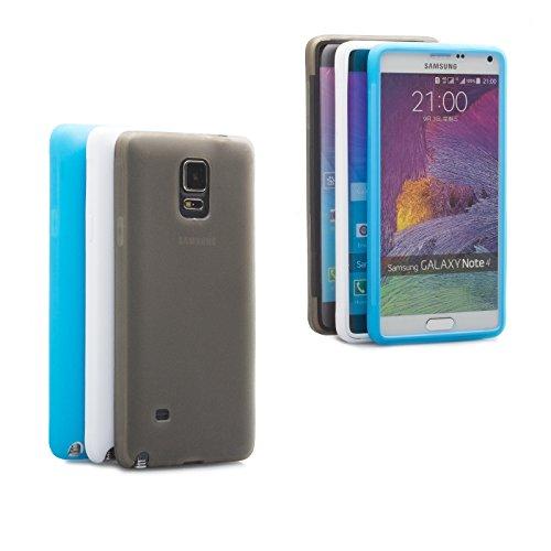 Samsung Galaxy Note 4 | iCues despejan el caso de TPU púrpura | luz extra lámina transparente muy fina protector exterior gruesa dura de la caja a prueba de golpes 360 grados Pantalla de cuerpo comple Blanco