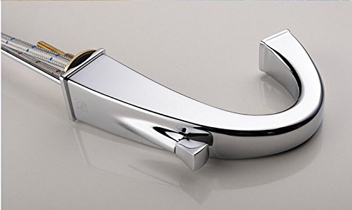 GOWE Widespread Bathroom Basin Vessel Sink Faucet Chrome Brass Basin Mixer Taps Dual Handle 3