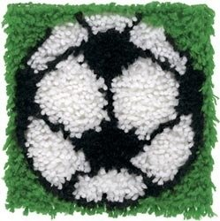 Sports Latch Hook (Soccer Ball Latch Hook Kit 8 X 8 By Caron Krafty Kids)