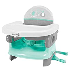 The Summer Infant Deluxe Comfort Folding Booster Seat is a convenient, comfortable solution for eating in-home or on-the-go. With its compact fold, the booster is perfect for travel. The machine washable cover provides additional comfort.