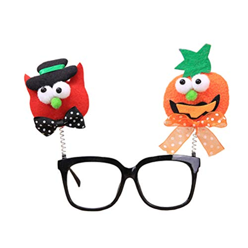 Amosfun Funny Halloween Glasses Plastic Party Glasses Halloween Cosplay Costume Props (Pumpkin -