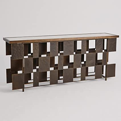 Amazon Com Bronze Block Mid Century Modern Console Table White