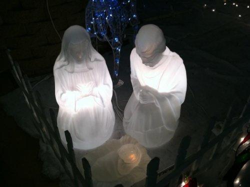 28 Nativity Set W Marble Loo