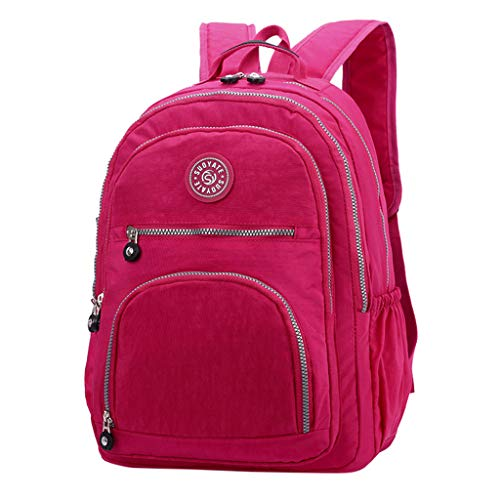 ONLY TOP Laptop Backpack, Business Anti Theft Travel Computer Bag for Women Men, Water Resistant School Bookbag Hot Pink