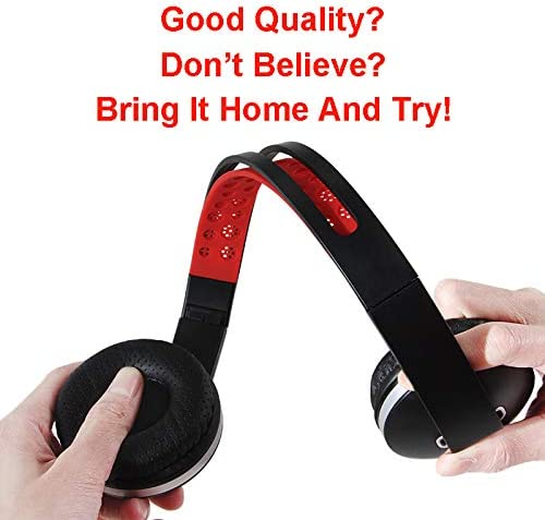Gorsun GS785 Lightweight Twistable Foldable Corded Headphones Adjustable Headband Headsets with Microphone Volume Control for Cellphones Smartphones Tablet PC Laptop MP3 4 Video Game Black