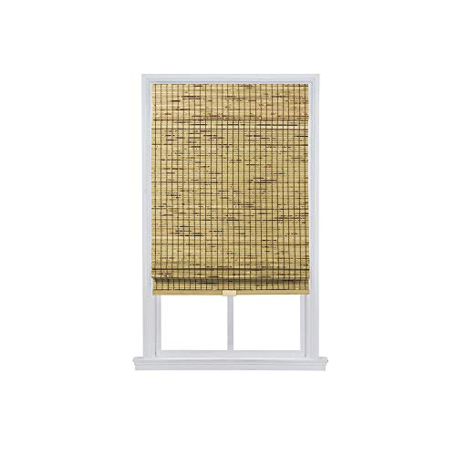 The Shade & Shutter Factory Colorado Cordless Bamboo Roman Shades (Natural 27 in. W x 64 in. L) ()