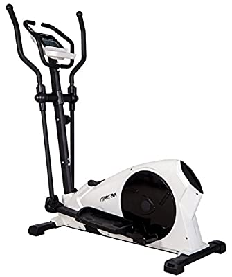 Merax 2016 New Design RX10 Magnetic Elliptical Trainer Machine (White, x-large)