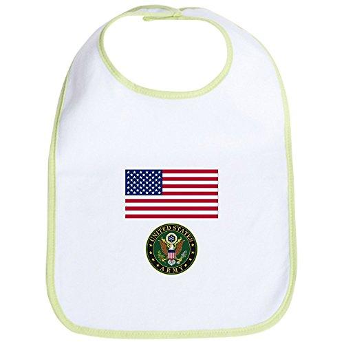 Cute Army Clothes (CafePress American Flag US Army Bib Cute Cloth Baby Bib, Toddler)