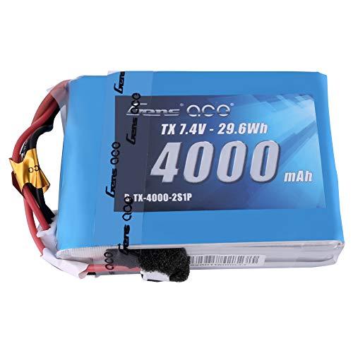 Gens ace 4000mAh 7.4V 2S TX LiPo Battery Pack with JST-EHR Plug for Spektrum DX9 DX8 DX7S DX7 Transmitter ()