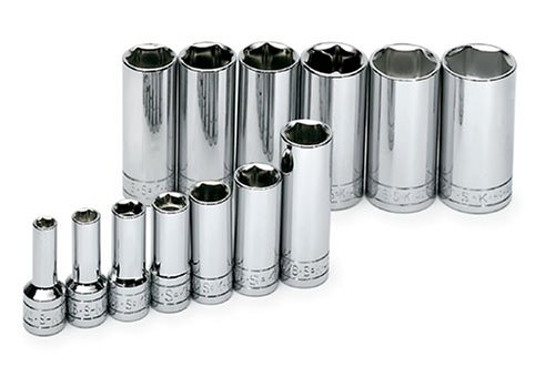 SK 4413 13 Piece 3/8-Inch Drive 6 Point 1/4-Inch to 1-Inch Deep Socket ()