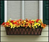 Arch Decora Window Box with Bronze Galvanized Liner - 72 Inch