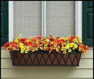 Arch Decora Window Box with Bronze Galvanized Liner – 72 Inch
