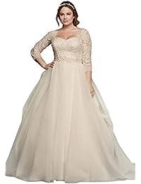 Amazon plus size wedding dresses wedding party clothing oleg cassini plus size organza 34 wedding dress style 8cwg731 junglespirit Choice Image
