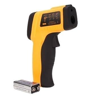 Termómetro infrarrojo sin contacto LCD del laser Digital IR con la luz trasera: Amazon.es: Industria, empresas y ciencia