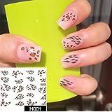 Arte de uñas: Calcomanías y autoadherentes Calcomanía Transferible con Agua C047 Pegatina Tatuaje para Uñas Nail Sticker - FashionLife