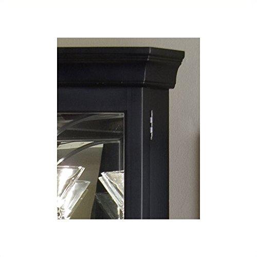 Beaumont Lane Black Corner Curio Cabinet