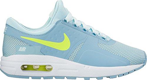 (Nike Kids Air Max Zero Essential GS Glacier Blue/Volt White Running Shoe 6 Kids US)
