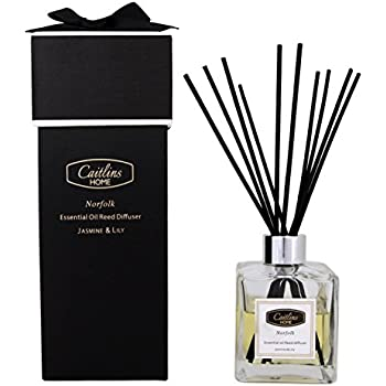 Reed Diffuser Jasmine Lily Scent Natural Reed Sticks Home Fragrance Gift  4.4floz 125ml Caitlins