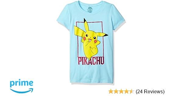 279e4f74f Amazon.com: Pokemon Girls' Pikachu The Princess Tee: Clothing