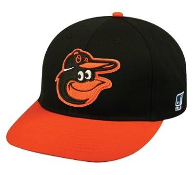 2013 Youth FLAT BRIM Baltimore Orioles Road Black/Orange Hat Cap MLB Adjustable