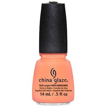 Amazon.com : China Glaze Nail Lacquer, Sun Of A Peach, 0.5 Fluid ...