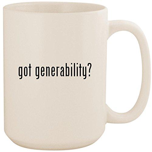 got generability? - White 15oz Ceramic Coffee Mug Cup (My Ipod Transfer Dvds)