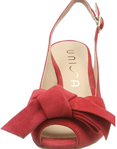 cheap enjoy Unisa Women's Ligur_ks Open Toe Heels Red (Pomelo Natural) for nice cheap price cheap sale largest supplier dPvwR