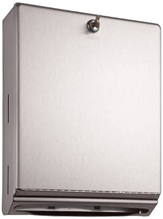 Bobrick 262 Surface-Mounted Paper Towel Dispenser, 10 3/4 x 4 x 14, Satin Stainless Steel